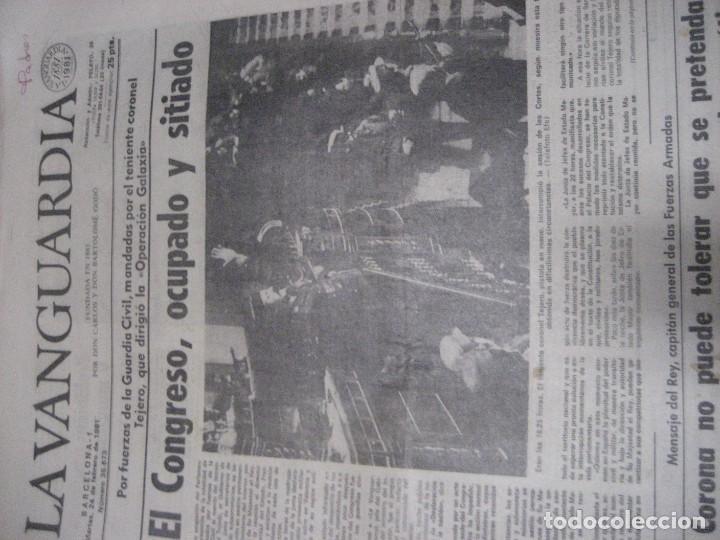 Coleccionismo Periódico La Vanguardia: lote 14 periodicos transicion la vanguardia 23 f golpe estado . retorno tarradelles felipe gonzalez - Foto 4 - 235884505