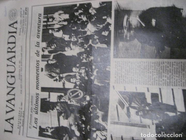 Coleccionismo Periódico La Vanguardia: lote 14 periodicos transicion la vanguardia 23 f golpe estado . retorno tarradelles felipe gonzalez - Foto 5 - 235884505