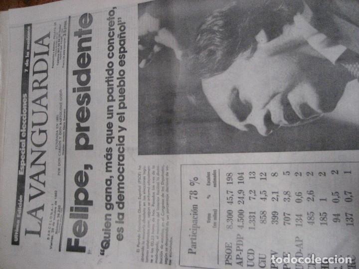 Coleccionismo Periódico La Vanguardia: lote 14 periodicos transicion la vanguardia 23 f golpe estado . retorno tarradelles felipe gonzalez - Foto 7 - 235884505