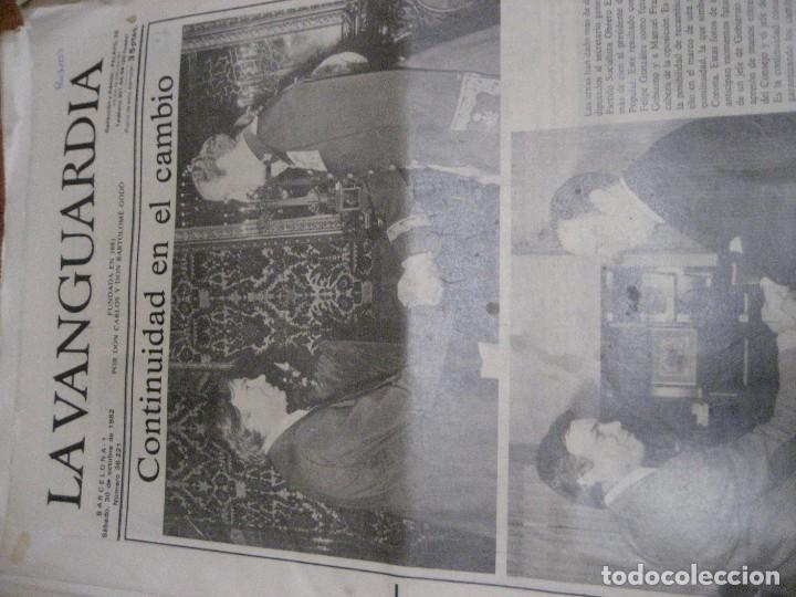 Coleccionismo Periódico La Vanguardia: lote 14 periodicos transicion la vanguardia 23 f golpe estado . retorno tarradelles felipe gonzalez - Foto 9 - 235884505