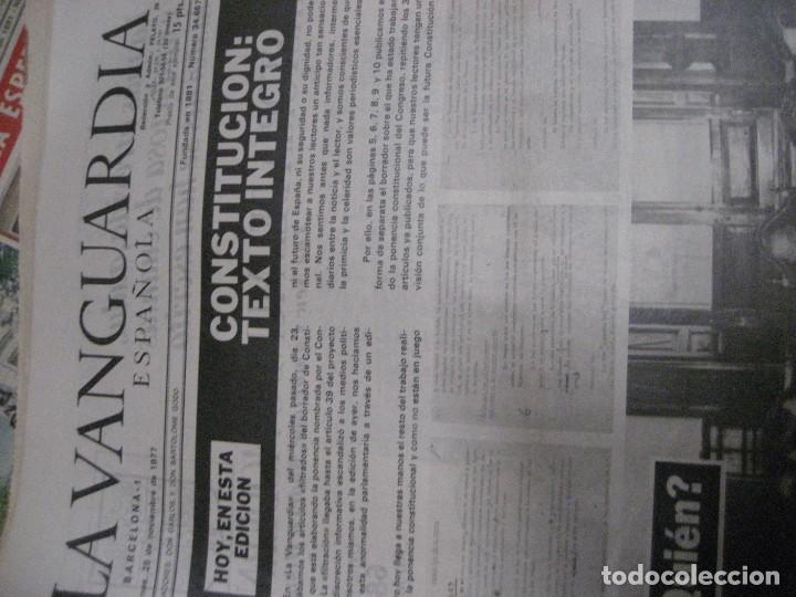 Coleccionismo Periódico La Vanguardia: lote 14 periodicos transicion la vanguardia 23 f golpe estado . retorno tarradelles felipe gonzalez - Foto 13 - 235884505