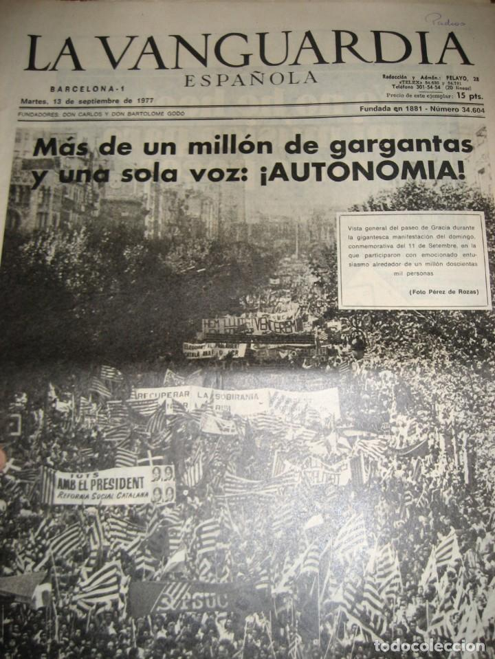 Coleccionismo Periódico La Vanguardia: lote 14 periodicos transicion la vanguardia 23 f golpe estado . retorno tarradelles felipe gonzalez - Foto 15 - 235884505