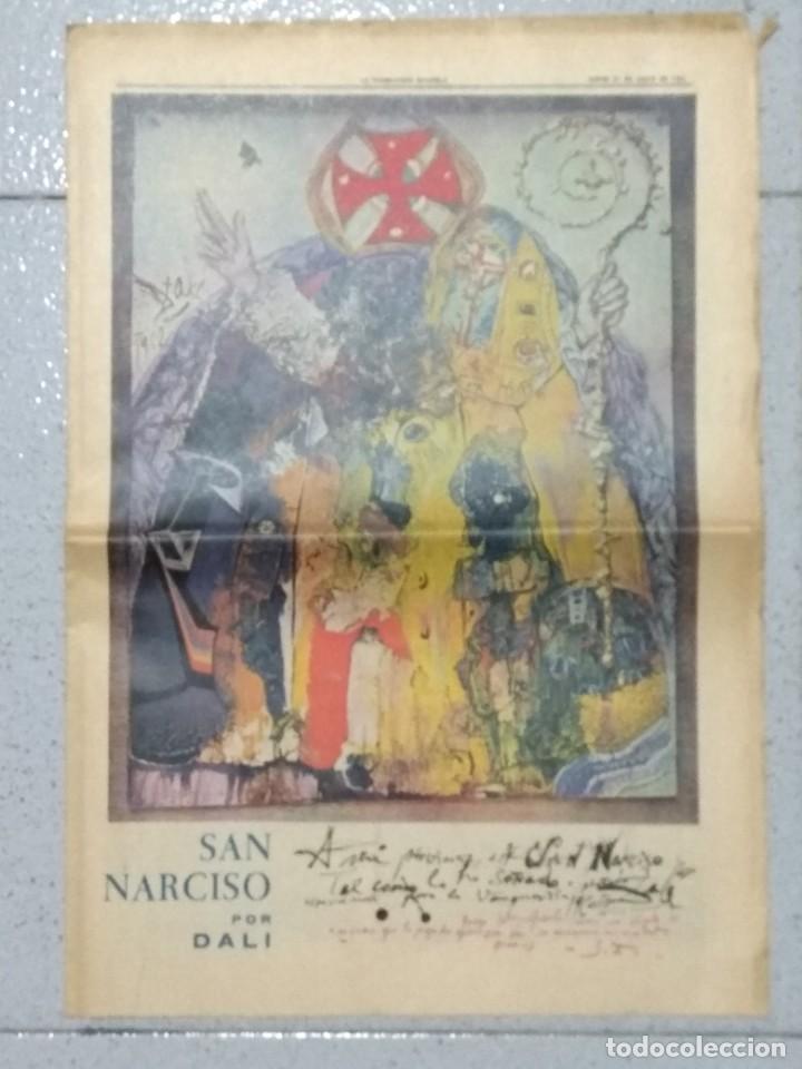 SALVADOR DALI, SUPLEMENTO COMPLETO LA VANGUARDIA 31/05/1962. (Coleccionismo - Revistas y Periódicos Modernos (a partir de 1.940) - Periódico La Vanguardia)