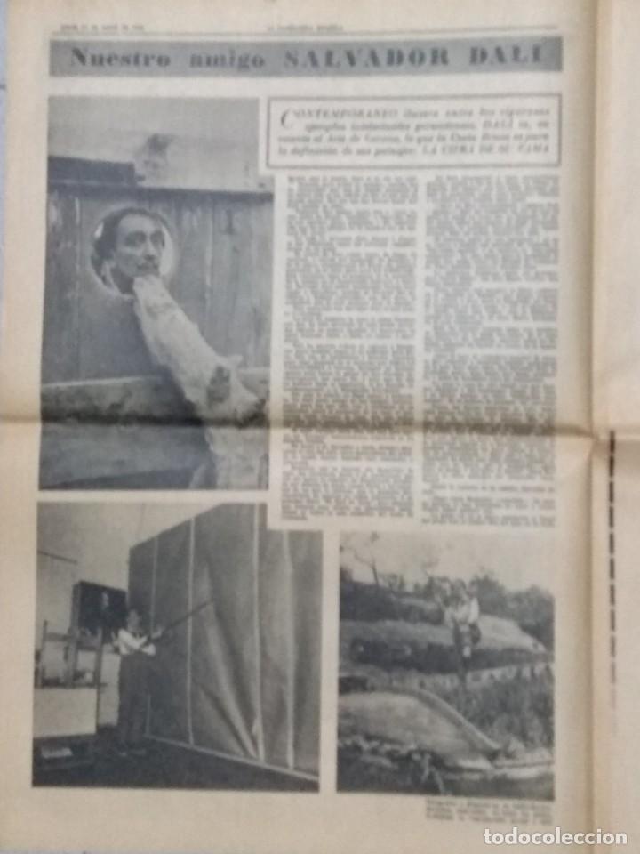 Coleccionismo Periódico La Vanguardia: SALVADOR DALI, SUPLEMENTO COMPLETO LA VANGUARDIA 31/05/1962. - Foto 4 - 236256780