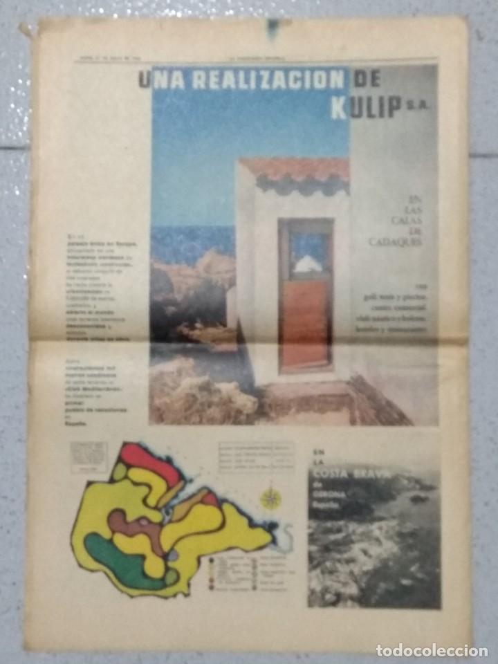 Coleccionismo Periódico La Vanguardia: SALVADOR DALI, SUPLEMENTO COMPLETO LA VANGUARDIA 31/05/1962. - Foto 10 - 236256780