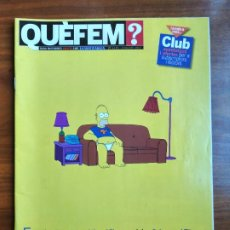 Collectionnisme Journal La Vanguardia: REVISTA QUÈ FEM? LA VANGUARDIA TEMA DE PORTADA: LOS SIMPSONS. Lote 236662650