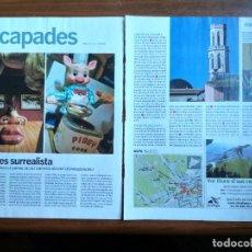 Coleccionismo Periódico La Vanguardia: REVISTA QUÈ FEM? LA VANGUARDIA RECORTE CLIPPING FIGUERES SURREALISTA DALI MUSEO DEL JUGUETE JOGUINA. Lote 236666390