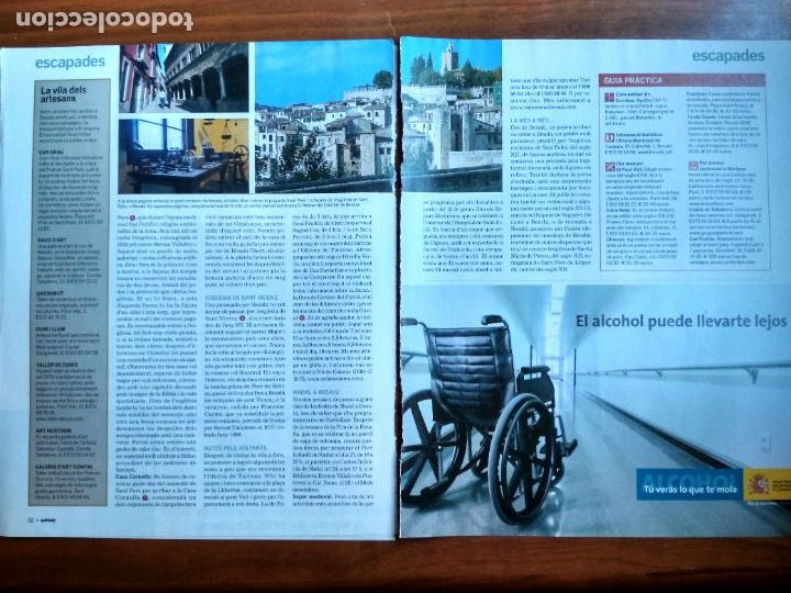 Coleccionismo Periódico La Vanguardia: REVISTA QUÈ FEM? LA VANGUARDIA RECORTE CLIPPING BESALU EL PONT DELS JUEUS LA GARROTXA ESCAPADES - Foto 2 - 236666455