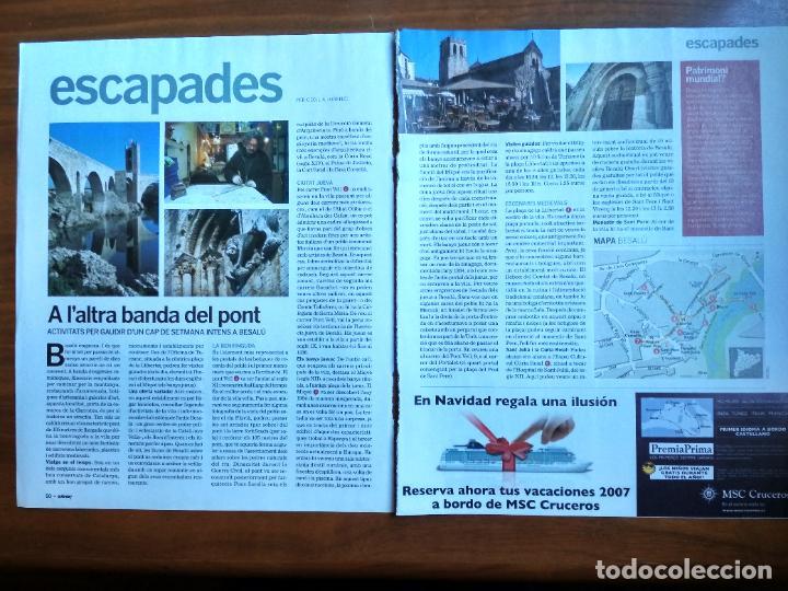 REVISTA QUÈ FEM? LA VANGUARDIA RECORTE CLIPPING BESALU EL PONT DELS JUEUS LA GARROTXA ESCAPADES (Coleccionismo - Revistas y Periódicos Modernos (a partir de 1.940) - Periódico La Vanguardia)