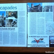 Coleccionismo Periódico La Vanguardia: REVISTA QUÈ FEM? LA VANGUARDIA RECORTE CLIPPING BESALU EL PONT DELS JUEUS LA GARROTXA ESCAPADES. Lote 236666455