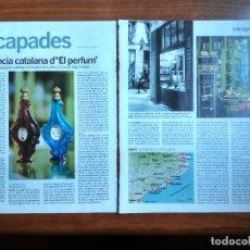 Coleccionismo Periódico La Vanguardia: REVISTA QUÈ FEM? LA VANGUARDIA RECORTE CLIPPING LA BARCELONA DEL EL PERFUME PATRICK SUSKIND. Lote 236666525