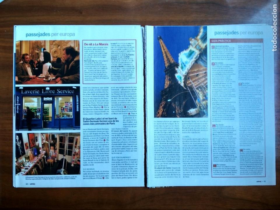 Coleccionismo Periódico La Vanguardia: REVISTA QUÈ FEM? LA VANGUARDIA RECORTE CLIPPING PASSEJADES EUROPA PARIS - Foto 2 - 236666590