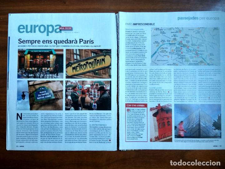 REVISTA QUÈ FEM? LA VANGUARDIA RECORTE CLIPPING PASSEJADES EUROPA PARIS (Coleccionismo - Revistas y Periódicos Modernos (a partir de 1.940) - Periódico La Vanguardia)