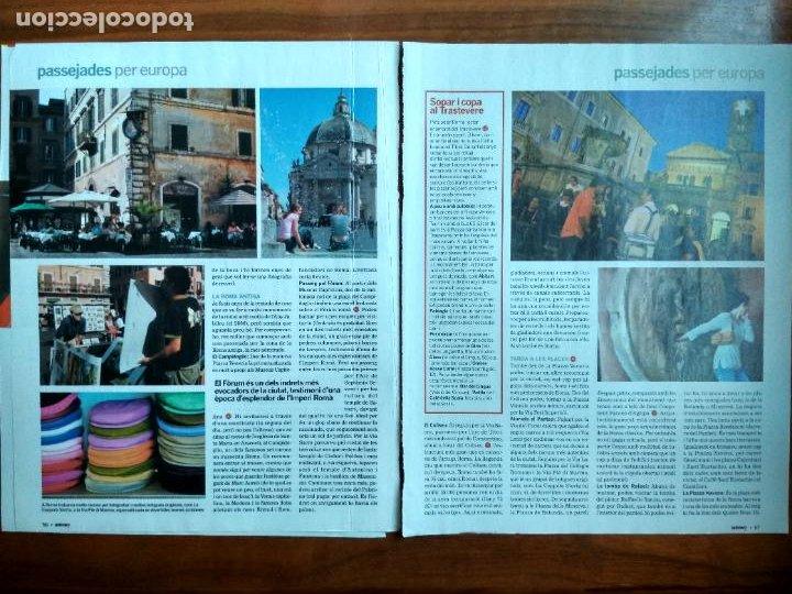 Coleccionismo Periódico La Vanguardia: REVISTA QUÈ FEM? LA VANGUARDIA RECORTE CLIPPING PASSEJADES EUROPA ROMA - Foto 2 - 236666615