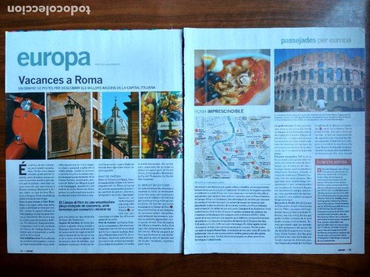 REVISTA QUÈ FEM? LA VANGUARDIA RECORTE CLIPPING PASSEJADES EUROPA ROMA (Coleccionismo - Revistas y Periódicos Modernos (a partir de 1.940) - Periódico La Vanguardia)