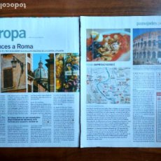 Coleccionismo Periódico La Vanguardia: REVISTA QUÈ FEM? LA VANGUARDIA RECORTE CLIPPING PASSEJADES EUROPA ROMA. Lote 236666615