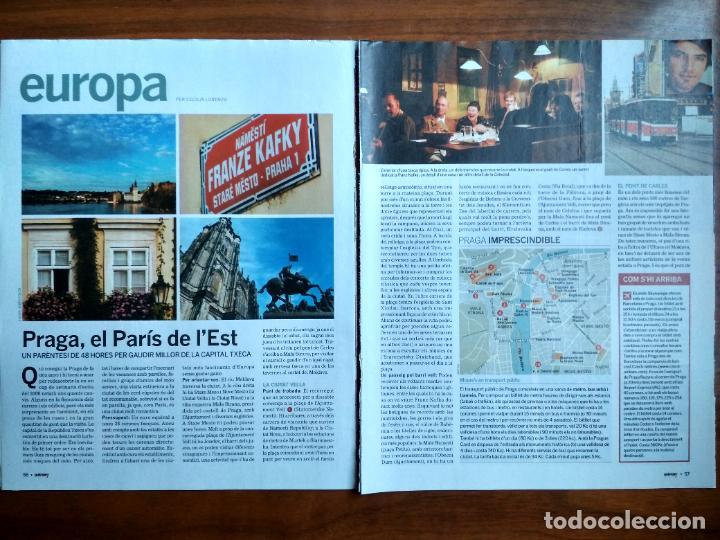 REVISTA QUÈ FEM? LA VANGUARDIA RECORTE CLIPPING PASSEJADES EUROPA PRAGA (Coleccionismo - Revistas y Periódicos Modernos (a partir de 1.940) - Periódico La Vanguardia)