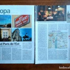 Coleccionismo Periódico La Vanguardia: REVISTA QUÈ FEM? LA VANGUARDIA RECORTE CLIPPING PASSEJADES EUROPA PRAGA. Lote 236666645