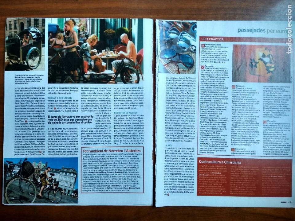 Coleccionismo Periódico La Vanguardia: REVISTA QUÈ FEM? LA VANGUARDIA RECORTE CLIPPING PASSEJADES EUROPA COPENHAGEN - Foto 2 - 236666670