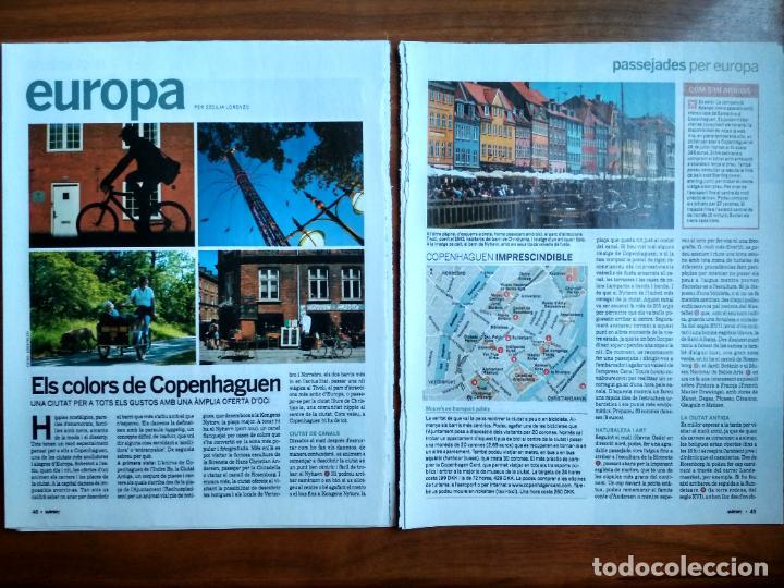 REVISTA QUÈ FEM? LA VANGUARDIA RECORTE CLIPPING PASSEJADES EUROPA COPENHAGEN (Coleccionismo - Revistas y Periódicos Modernos (a partir de 1.940) - Periódico La Vanguardia)