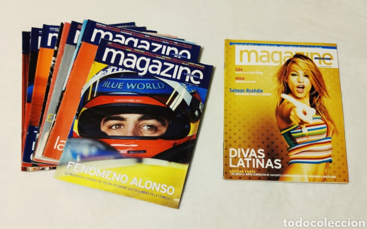 LOTE DE REVISTAS PÚBLICITARIAS MAGAZINE. LA VANGUARDIA. DIVAS LATINAS.. (Coleccionismo - Revistas y Periódicos Modernos (a partir de 1.940) - Periódico La Vanguardia)