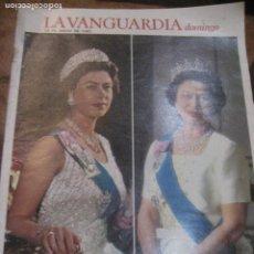 Coleccionismo Periódico La Vanguardia: SUPLEMENTO DOMINGO PERIODICO LA VANGUARDIA . 1983 . REINA ISABEL INGLATERRA LADY DIANA. Lote 241312405