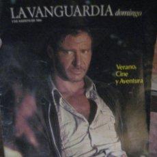 Coleccionismo Periódico La Vanguardia: SUPLEMENTO DOMINGO PERIODICO LA VANGUARDIA . 1984 . JAUME SISA . SPIELBERG. Lote 241312905