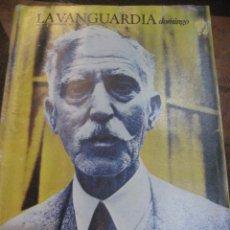 Coleccionismo Periódico La Vanguardia: SUPLEMENTO DOMINGO PERIODICO LA VANGUARDIA . 1983 . FRANCESC MACIÀ . JACQUELINE BISSET. Lote 241314700
