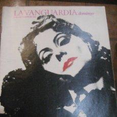Coleccionismo Periódico La Vanguardia: SUPLEMENTO DOMINGO PERIODICO LA VANGUARDIA . 1985 OCHENTA AÑOS CON GRETA . KATMANDU. Lote 241432240