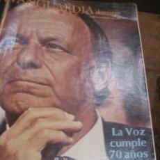 Coleccionismo Periódico La Vanguardia: SUPLEMENTO DOMINGO PERIODICO LA VANGUARDIA . 1985 KTANK SINATRA 70 AÑOS . CIRCO RONCALLI. Lote 241435970