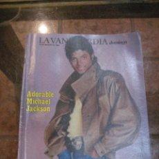 Coleccionismo Periódico La Vanguardia: SUPLEMENTO DOMINGO PERIODICO LA VANGUARDIA . 1984 MICHAEL JACKSON . EL CHIMPANCE Y LOS HUMANOS. Lote 241436845