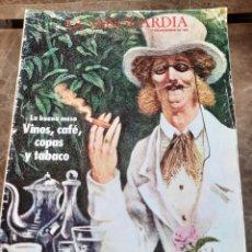 Coleccionismo Periódico La Vanguardia: SUPLEMENTO LA BUENA MESA, VINOS,CAFÉ ,COPAS Y TABACO. PUBLICIDAD 1983. Lote 257433165