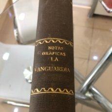 Colecionismo Jornal La Vanguardia: LA VANGUARDIA AÑO 1937,GUERRA CIVIL,NOTAS GRÁFICAS ENCUADERNADAS,ALGÚN NÚMERO DE AÑO 1936-38-39-41. Lote 258041695
