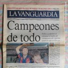 Coleccionismo Periódico La Vanguardia: LA VANGUARDIA 39695 8 DE JUNIO 1992 FUTBOL CLUB BARCELONA BARCA CAMPEONES DE TODO LIGA 1991-92. Lote 265107314