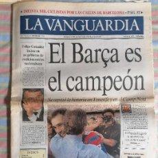 Coleccionismo Periódico La Vanguardia: LA VANGUARDIA 40070 21 DE JUNIO 1993 BARCELONA BARCA CAMPEON LIGA 2ª DE TENERIFE. Lote 265110909