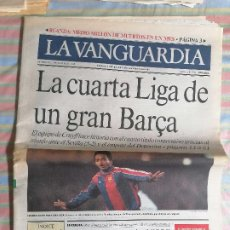 Coleccionismo Periódico La Vanguardia: LA VANGUARDIA 40395 15 DE MAYO 1994 BARCELONA BARCA 4ª LIGA. Lote 265113444