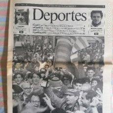 Coleccionismo Periódico La Vanguardia: LA VANGUARDIA SUPLEMENTO 13 DE MAYO 1991 CRUYFF 1ª LIGA 1990-91 BARCELONA BARCA. Lote 265200749