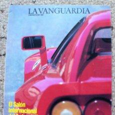 Coleccionismo Periódico La Vanguardia: SUPLEMENTO LA VANGUARDIA SALÓN INTERNACIONAL DEL AUTOMÓVIL DE BARCELONA 1987. Lote 269942188