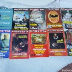 Coleccionismo Periódico La Vanguardia: INDICE Y LOTE 8 REVISTAS HISTORIA Y VIDA 1968. Lote 270378033