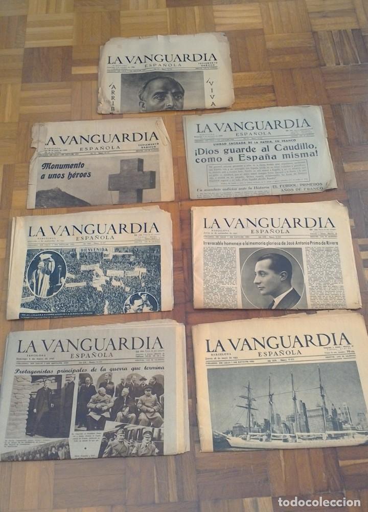 """LOTE DE 7 EJEMPLARES DE """"LA VANGUARDIA"""" (Coleccionismo - Revistas y Periódicos Modernos (a partir de 1.940) - Periódico La Vanguardia)"""