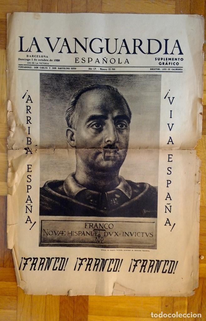 "Coleccionismo Periódico La Vanguardia: LOTE DE 7 EJEMPLARES DE ""LA VANGUARDIA"" - Foto 2 - 274849098"
