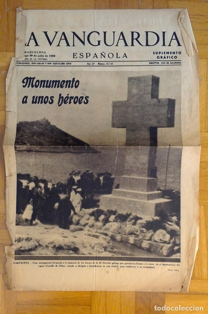 "Coleccionismo Periódico La Vanguardia: LOTE DE 7 EJEMPLARES DE ""LA VANGUARDIA"" - Foto 3 - 274849098"