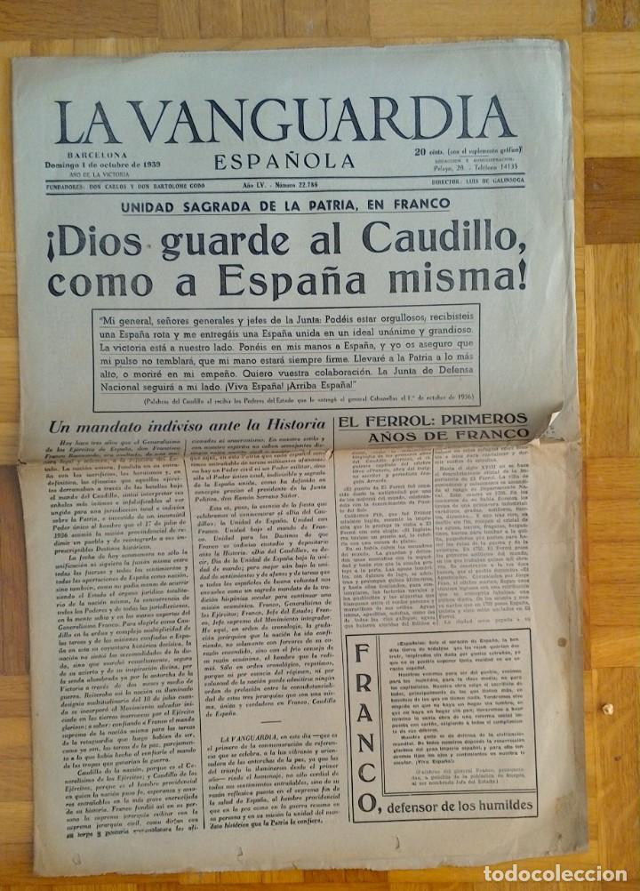 "Coleccionismo Periódico La Vanguardia: LOTE DE 7 EJEMPLARES DE ""LA VANGUARDIA"" - Foto 4 - 274849098"