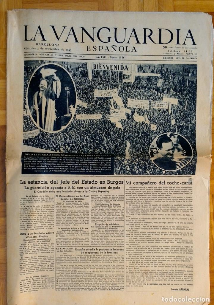 "Coleccionismo Periódico La Vanguardia: LOTE DE 7 EJEMPLARES DE ""LA VANGUARDIA"" - Foto 5 - 274849098"