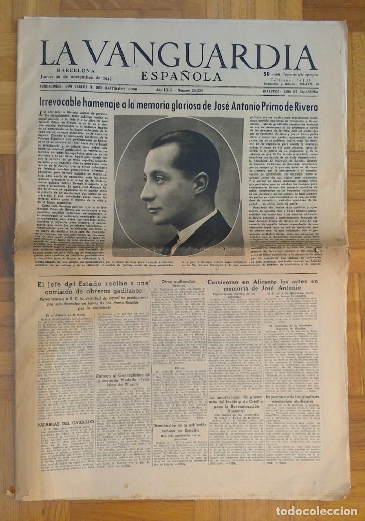 "Coleccionismo Periódico La Vanguardia: LOTE DE 7 EJEMPLARES DE ""LA VANGUARDIA"" - Foto 6 - 274849098"