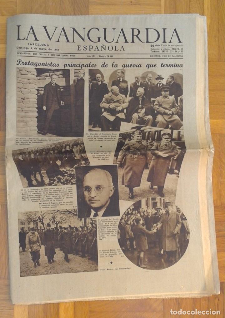 "Coleccionismo Periódico La Vanguardia: LOTE DE 7 EJEMPLARES DE ""LA VANGUARDIA"" - Foto 7 - 274849098"