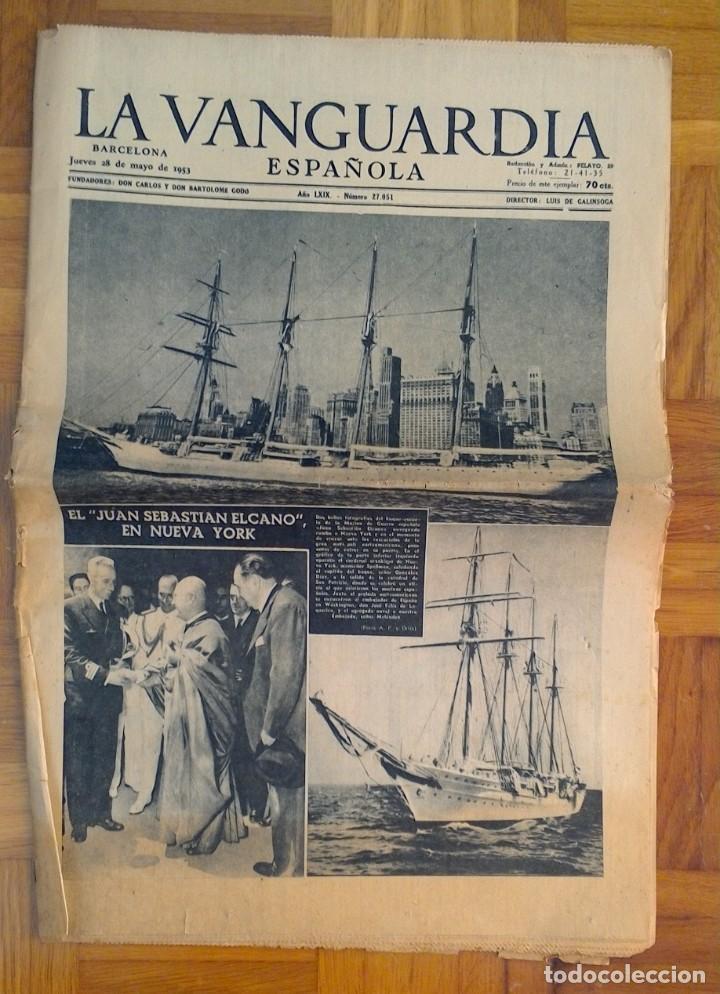 "Coleccionismo Periódico La Vanguardia: LOTE DE 7 EJEMPLARES DE ""LA VANGUARDIA"" - Foto 8 - 274849098"