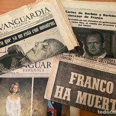 Coleccionismo Periódico La Vanguardia: 4 PERIÓDICOS DE LA TRANSICIÓN 1975 (MUERTE FRANCO - PROCLAMACIÓN REY JUAN CARLOS). Lote 276258353