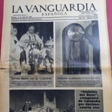 Coleccionismo Periódico La Vanguardia: DIARIO LA VANGUARDIA 12 DE ABRIL DE 1974. Lote 288137183
