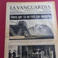 Coleccionismo Periódico La Vanguardia: DIARIO LA VANGUARDIA 21 DE NOVIEMBRE 1975. Lote 288137903